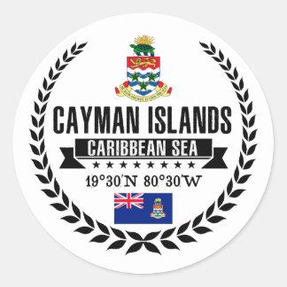Pegatina Redonda Islas Caimán