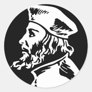 Pegatina Redonda Jan Hus