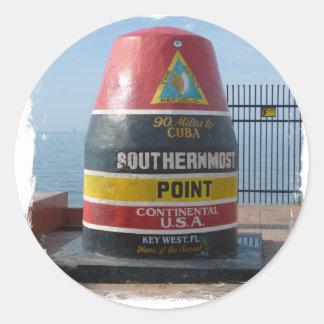 Pegatina Redonda Key West