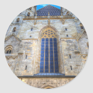 Pegatina Redonda La catedral Viena de St Stephen