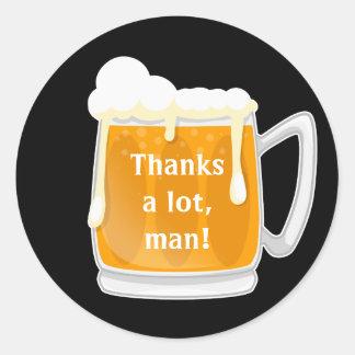 Pegatina Redonda La cerveza le agradece