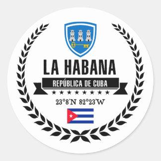 Pegatina Redonda La Habana