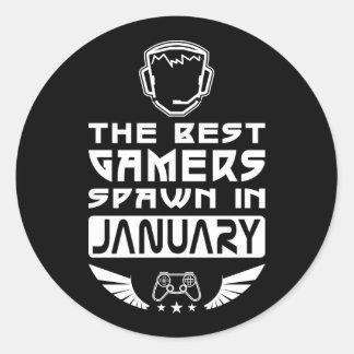 Pegatina Redonda La mejor freza de los videojugadores en enero