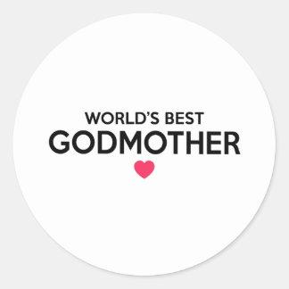 Pegatina Redonda La mejor madrina del mundo - bautizo recién nacido