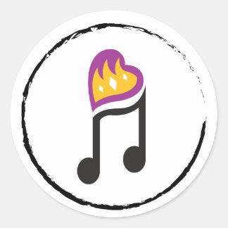 Pegatina Redonda la música vive dentro de tí