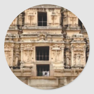 Pegatina Redonda lado detallado del edificio