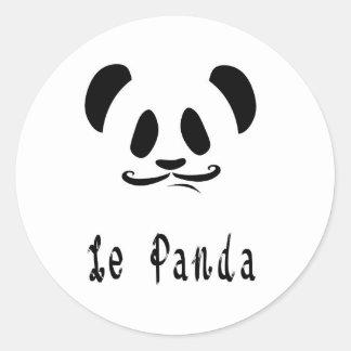 Pegatina Redonda Le Panda