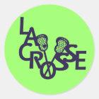 Pegatina Redonda Letras de LaCrosse