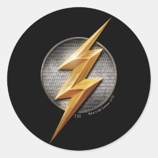 Pegatina Redonda Liga de justicia el | el símbolo metálico de