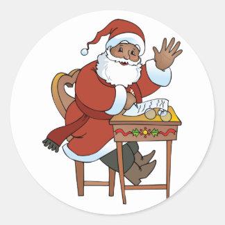 Pegatina Redonda Lista de Santa