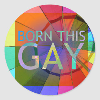Pegatina Redonda Llevado este gay