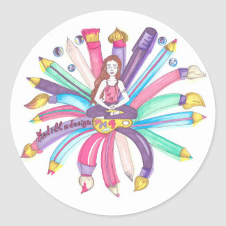 Pegatina Redonda Logotipo de Medilludesign