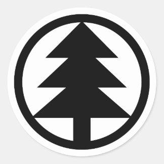 Pegatina Redonda Logotipo de Treemore (negro)
