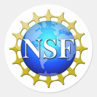 Pegatina Redonda Logotipo del NSF por la petición