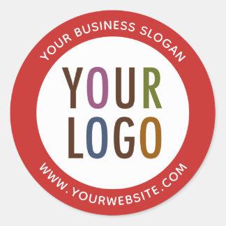 Pegatina Redonda Logotipo Round Promotional Business Stickers