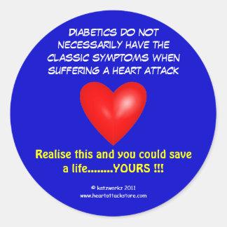 Pegatina Redonda Los diabéticos no tienen necesariamente