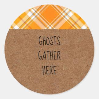 Pegatina Redonda Los fantasmas de Kraft recolectan aquí a los