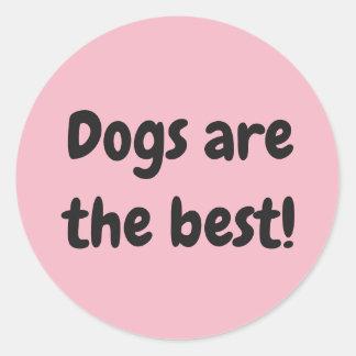 Pegatina Redonda ¡Los perros son el mejor!
