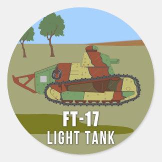 Pegatina Redonda Los tanques de WWI: El tanque ligero FT-17