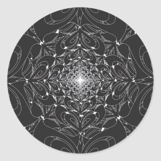 Pegatina Redonda Lotus infinito