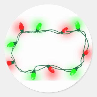 Pegatina Redonda Luces de navidad