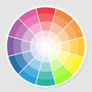 Pegatina Redonda Luz de la rueda de color