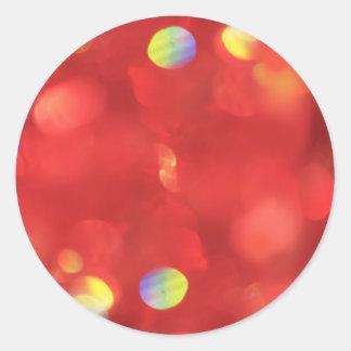 Pegatina Redonda Luz de navidad Bokeh