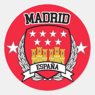 Pegatina Redonda Madrid