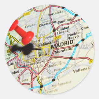 Pegatina Redonda Madrid, España