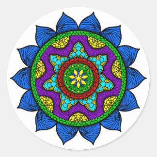 Pegatina Redonda Mandala