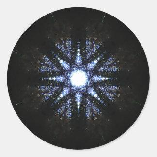 Pegatina Redonda Mandala asteroide del reactor de la energía pura