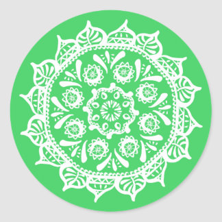 Pegatina Redonda Mandala de la primavera