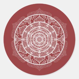 Pegatina Redonda Mandala del arándano