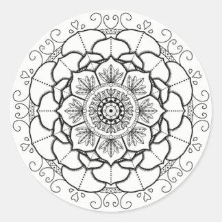 Pegatina Redonda Mandala del maná