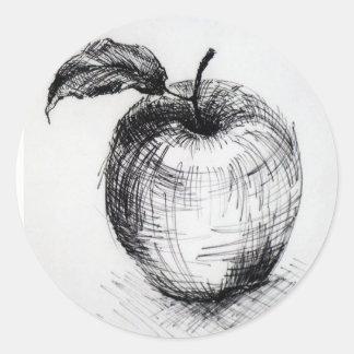 Pegatina Redonda manzana
