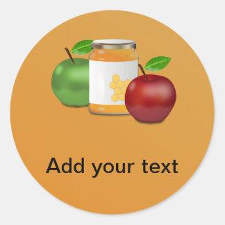 Pegatina Redonda Manzanas y miel