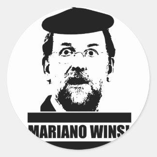 Pegatina Redonda Mariano Wins!