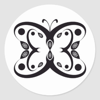 Pegatina Redonda Mariposa de Geo