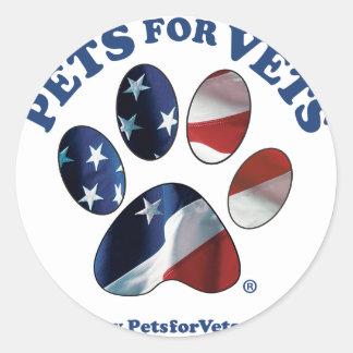 Pegatina Redonda Mascotas para los veterinarios