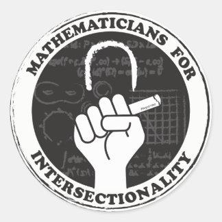 Pegatina Redonda Matemáticos para los pegatinas de