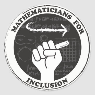 Pegatina Redonda Matemáticos para los pegatinas de la inclusión