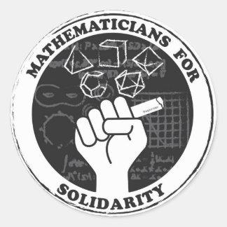 Pegatina Redonda Matemáticos para los pegatinas de la solidaridad