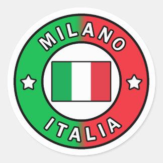 Pegatina Redonda Milano Italia