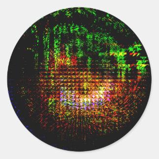 Pegatina Redonda modelo del caleidoscopio del radar