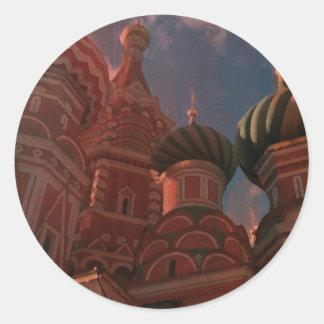 Pegatina Redonda Moscow_russia