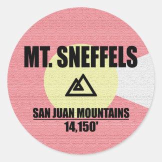 Pegatina Redonda Mt. Sneffels