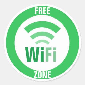 Pegatina Redonda Muestra libre de WiFi