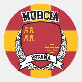 Pegatina Redonda Murcia