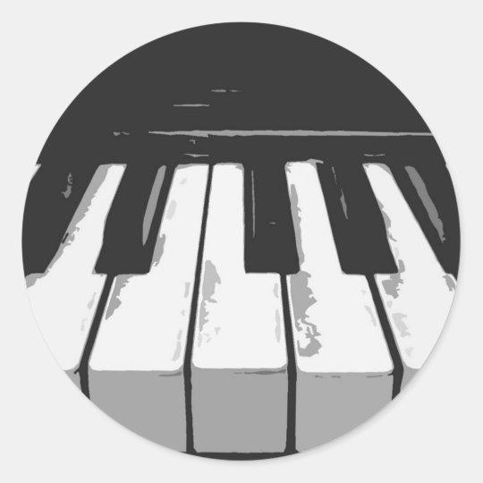Pegatina Redonda music_PIANO