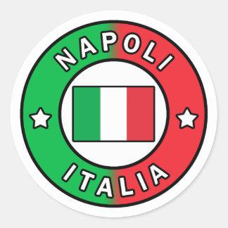 Pegatina Redonda Napoli Italia